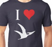 I Love Dinosaurs - Pterodactyl (white design) Unisex T-Shirt