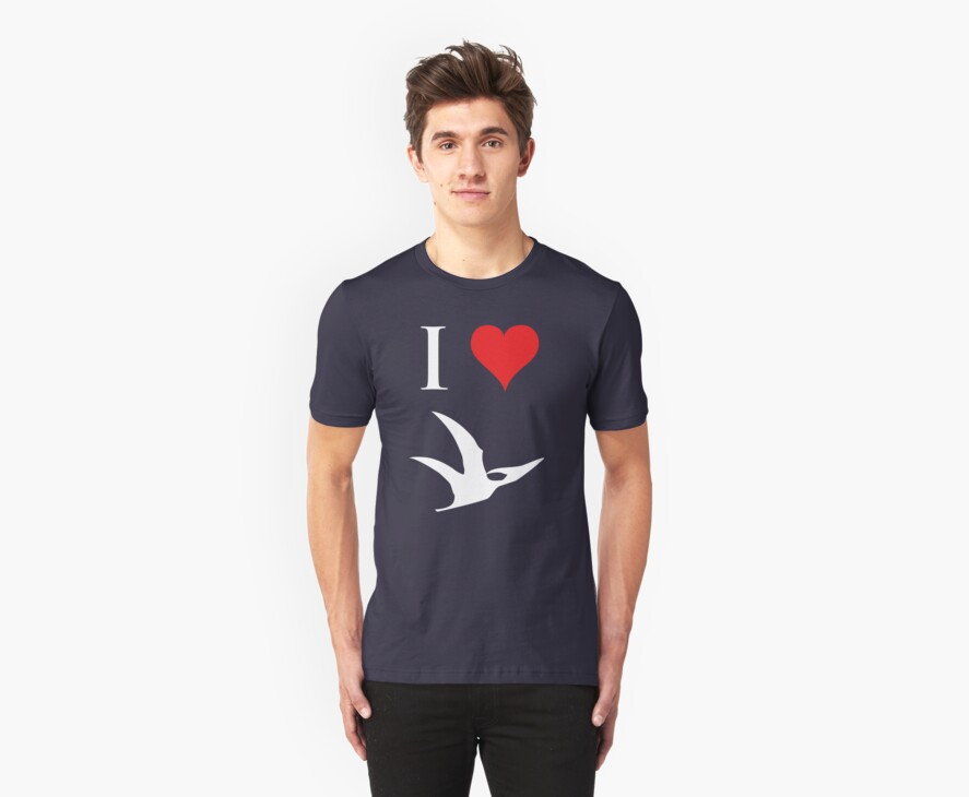 I Love Dinosaurs - Pterodactyl (white design) by jezkemp