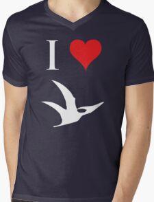 I Love Dinosaurs - Pterodactyl (white design) Mens V-Neck T-Shirt