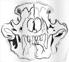 Bear Skull Poster