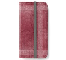 Ancient overlays-red shade iPhone Wallet/Case/Skin
