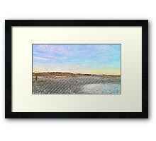 Woman on the Beach Framed Print