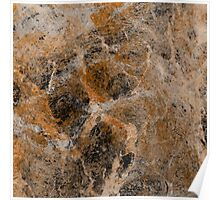 Rusting Marble - Abstract marble pattern painting Poster