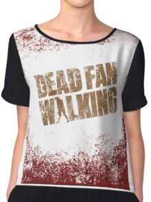 Dead Fan Walking Chiffon Top