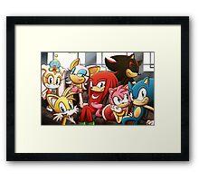 Sonic Gang Framed Print