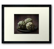 Still Life with artichokes 2 Framed Print