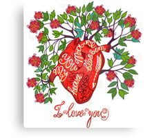 Blossom heart Canvas Print