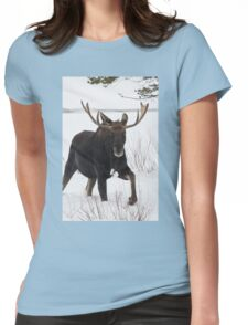 Moose on the Move Womens Fitted T-Shirt