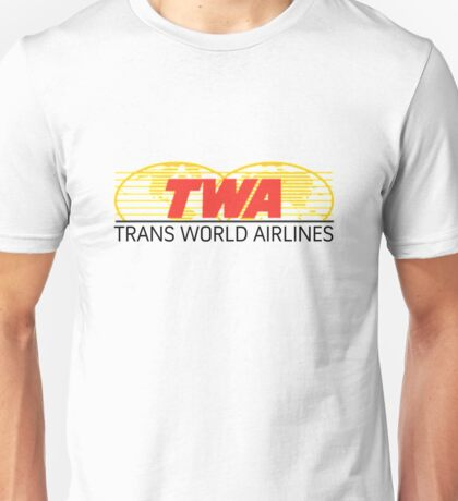 TWA Airlines retro logo Unisex T-Shirt