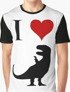 I Love Dinosaurs - T-Rex Graphic T-Shirt