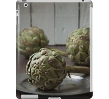 Artichokes in a rustic kitchen iPad Case/Skin