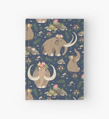 Cute mammoths Hardcover Journal