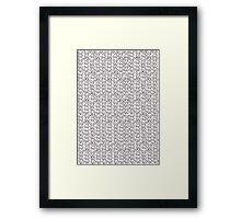 Knitting Knit Pattern - Doodle Ink Black and White Framed Print