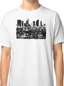 Los Angeles Skyline Stamp  Classic T-Shirt