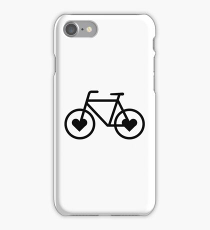 Black Bicycle Love - Fixie Hearts iPhone Case/Skin