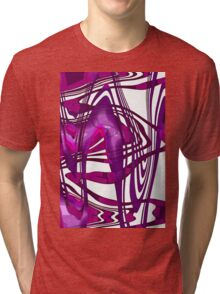 Violet & Purple abstract Tri-blend T-Shirt