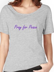 pray for peace (pink scenic) Women's Relaxed Fit T-Shirt