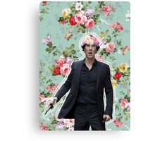 Flowercrowned Sherlock Canvas Print