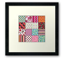 Old Fashioned Quilt Block Pattern Products Framed Print