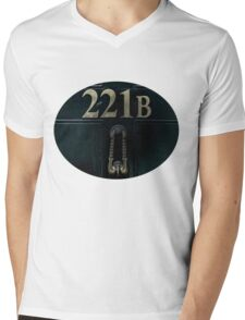 221B Door Mens V-Neck T-Shirt
