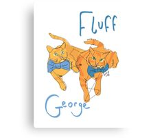 Fluff and George (@gingersgeorgefluff) Canvas Print