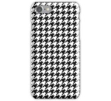 Houndstooth (Black & White) iPhone Case/Skin