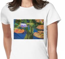 Autumn Lily Pad Impressions Womens Fitted T-Shirt