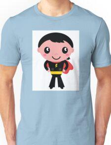 Cute young Super hero boy - Black + Red Unisex T-Shirt