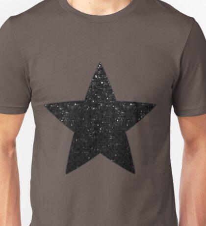 Black Crystal Bling Strass Unisex T-Shirt