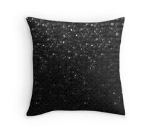 Black Crystal Bling Strass Throw Pillow