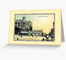 Vintage 1890s West Street Durban South Africa  Greeting Card