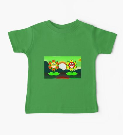 Flower Power mug, etc Baby Tee