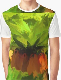 Showy Orange Crown Imperial Flowers - Impressions Of Spring Graphic T-Shirt