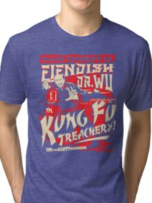 Black Dynamite vs. Fiendish Dr. Wu Tri-blend T-Shirt