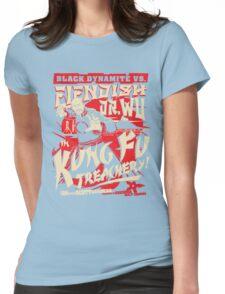 Black Dynamite vs. Fiendish Dr. Wu Womens Fitted T-Shirt