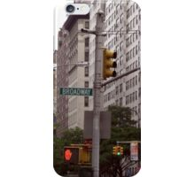 Traffic lights on Broadway (colour) iPhone Case/Skin