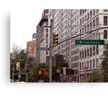 Traffic lights on Broadway (colour) Canvas Print
