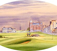 Saint Andrews Golf Course 17Th Green by bill holkham