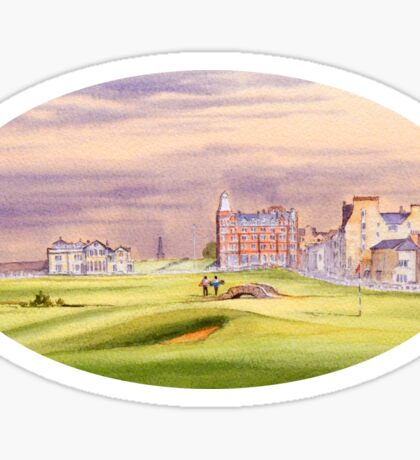 Saint Andrews Golf Course 17Th Green Sticker