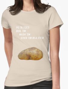 Potatoes Womens Fitted T-Shirt