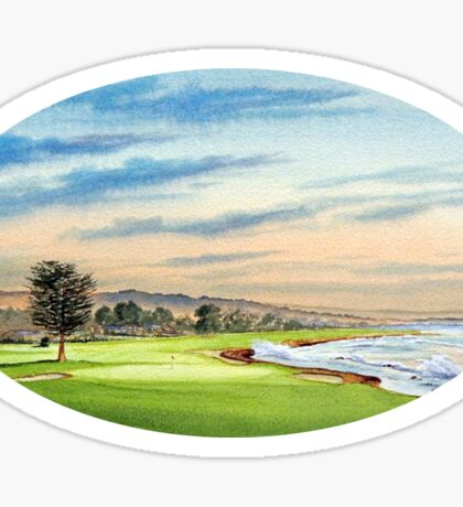 Pebble Beach Golf Course 18Th Hole Sticker
