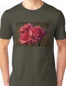 From My Mother's Garden - Three Fabulous Old Fashioned Sweetheart Roses Unisex T-Shirt
