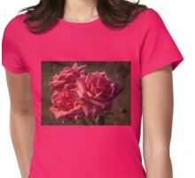 From My Mother's Garden - Three Fabulous Old Fashioned Sweetheart Roses Womens Fitted T-Shirt