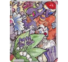 Colorful Watercolor and Ink Sketch Random Thoughts iPad Case/Skin