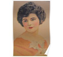 Vintage Picture-Beautiful Lady Poster