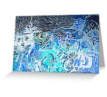 Icelandic blue graffiti Greeting Card
