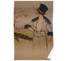 Vintage photo- Lady in Autumn Poster
