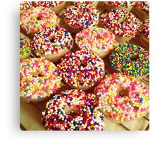 Donut Dessert Design Canvas Print