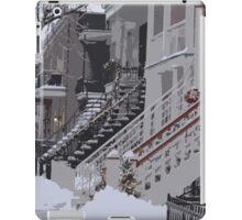 De Saint-Valliers Street in Winter (Montreal) iPad Case/Skin