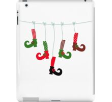 Cute colorful Santa legs handing iPad Case/Skin